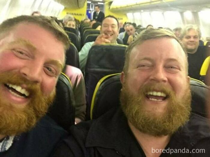 Two Strangers Sit Next To Each Other On A Flight And Meet Their Doppelganger