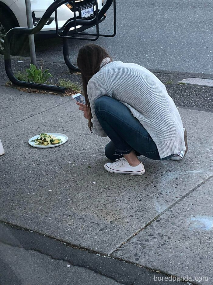 Taking A Meal Out Of A Restaurant Just To Get The Right Picture For Instagram Likes
