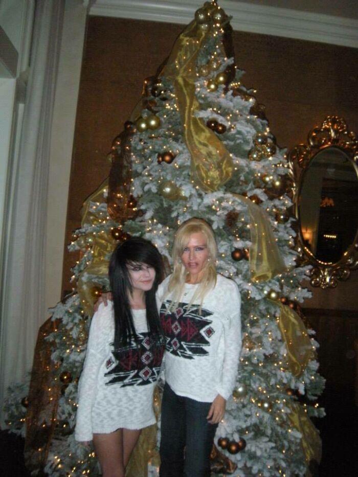 My Mom And I On Christmas... Around 2010