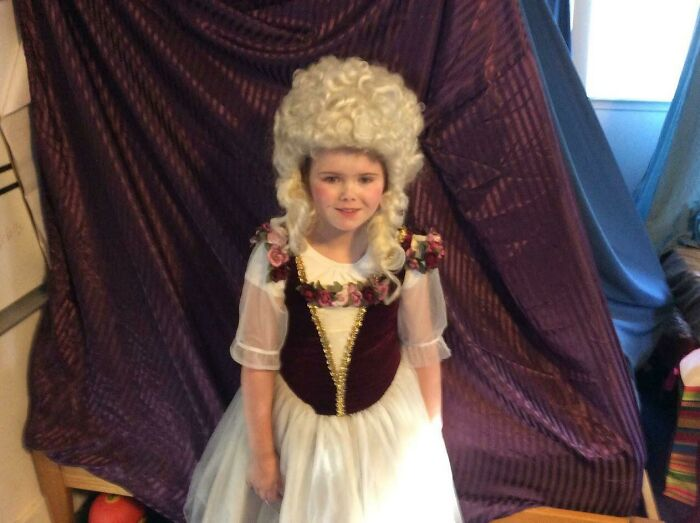 Age 8 Or 9, Cosplaying As Marie Antoinette. I'm A Guy