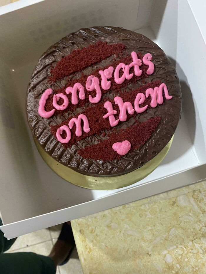 """Write Congrats On Them"" ( Two Cakes )"
