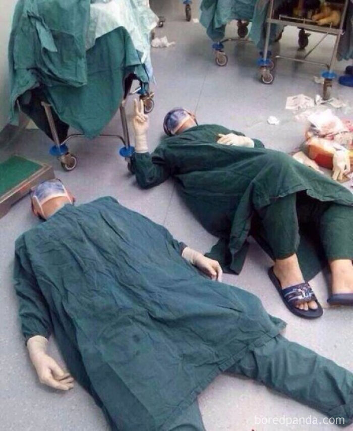 2 Surgeons After Successfully Removing A Set Of Brain Tumors During A 32 Hour Surgery