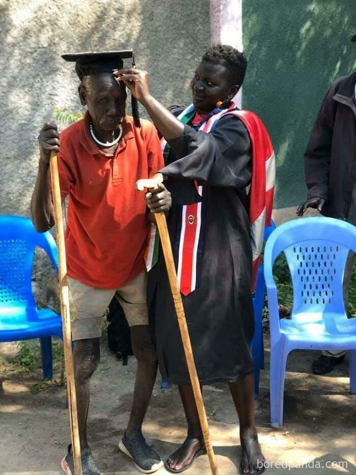 """""""When You Take Your Master's Degree Back Home To The Uncle That Helped You Survived The Walk From Ethiopia To Sudan In 1991"""""""