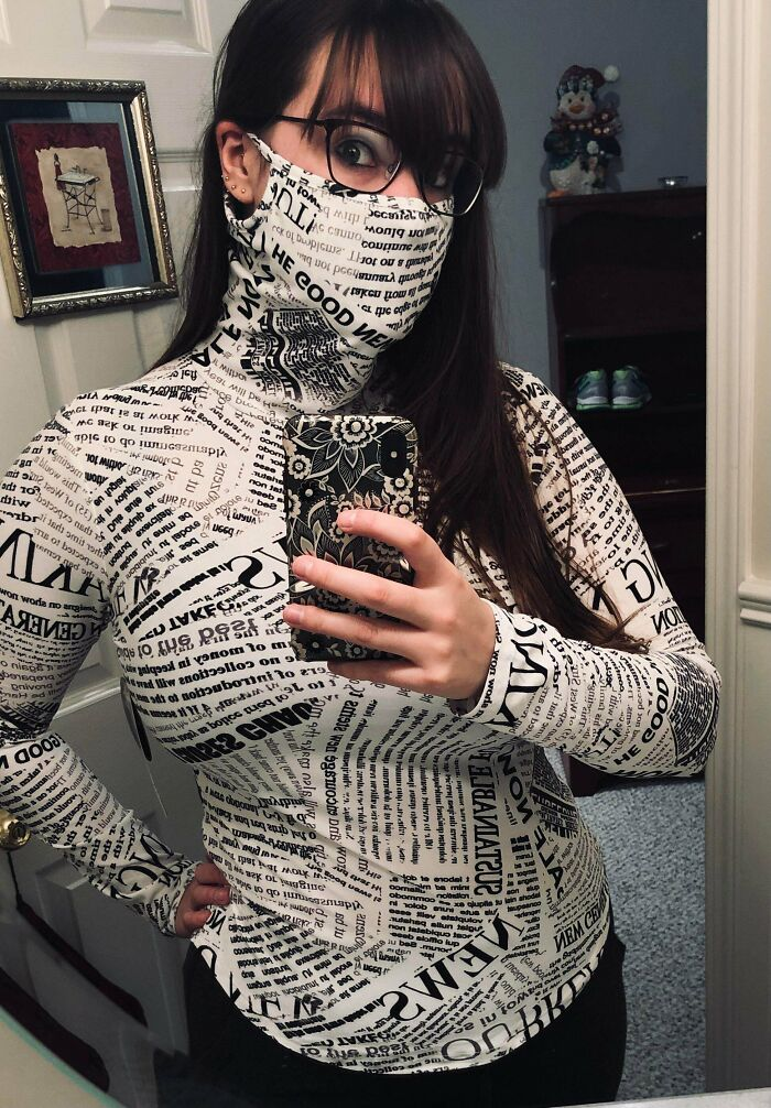 My New Turtleneck Has An Incorporated Face Mask