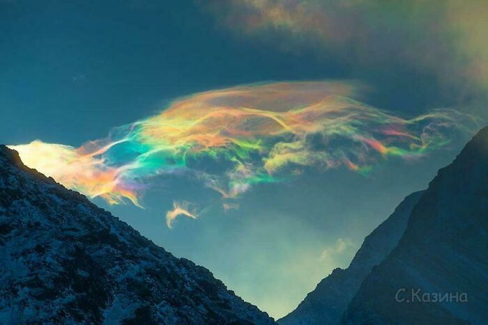 Iridescent Clouds In Siberia