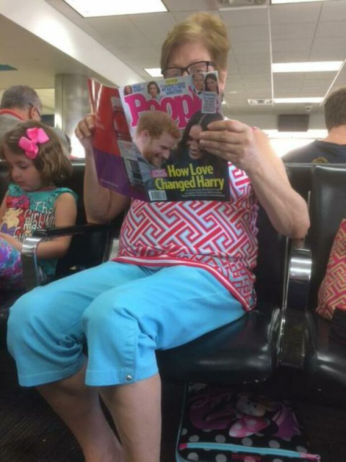 My Son Just Asked Me Why This Lady Is Reading Poop Magazine. I'm So Proud