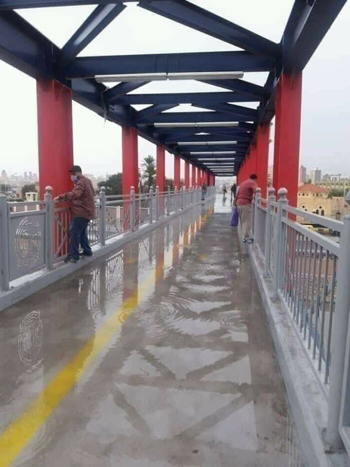You Either Wet Your Shoes Or Do Some Exercise To Cross This Bridge
