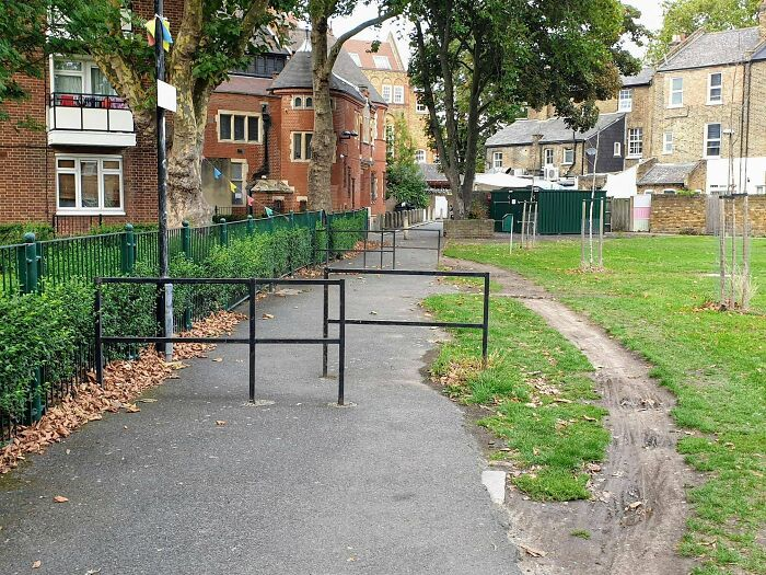 These Barriers Designed To Prevent Cyclists From Passing Through