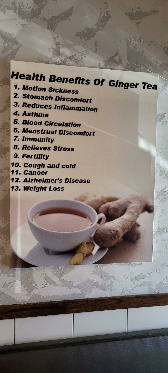 The Health Benefits Of Ginger Tea Include Cancer, Alzheimer's Disease And More