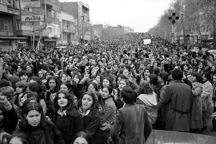 100,000 Iranian Women March Against The Hijab Law, Tehran 1979