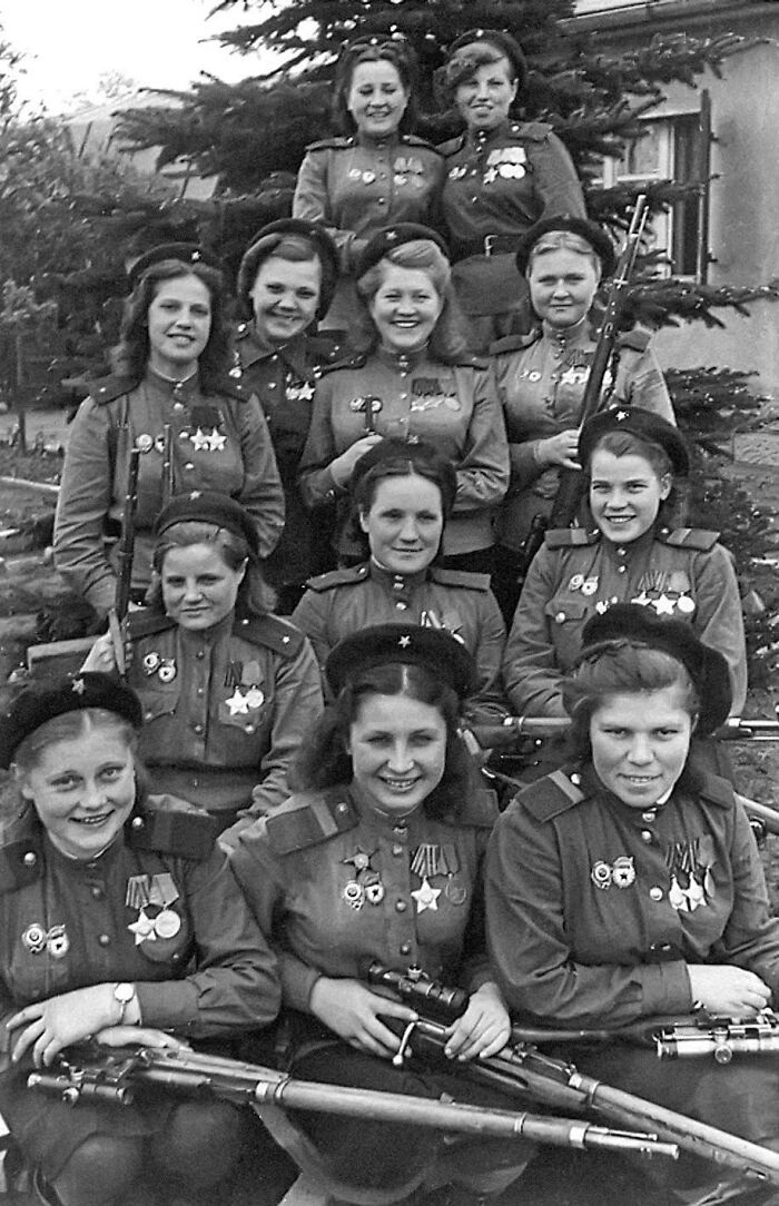 Female Snipers Of The 3rd Shock Army, 1st Belorussian Front, 775 Confirmed Kills, Germany, May 1945