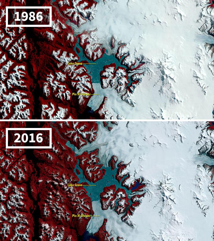 As Glaciers Recede Worldwide, One Defies Trend