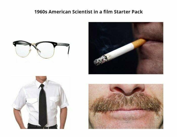 1960s American Scientist In A Film Starter Pack