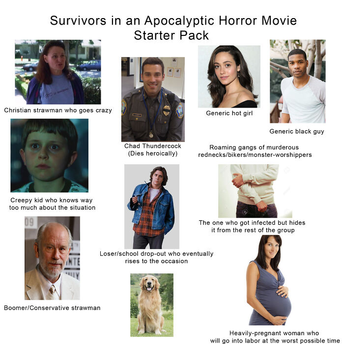 Survivors In An Apocalyptic Horror Movie Starter Pack