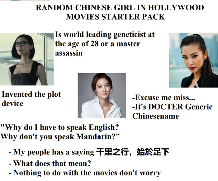 Random Chinese Girl In Hollywood Movies Starter Pack