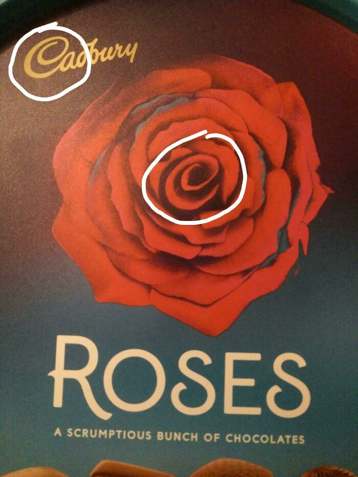 Cadburys Snuck Their Trademark 'C' In The Middle Of Their Roses' Rose