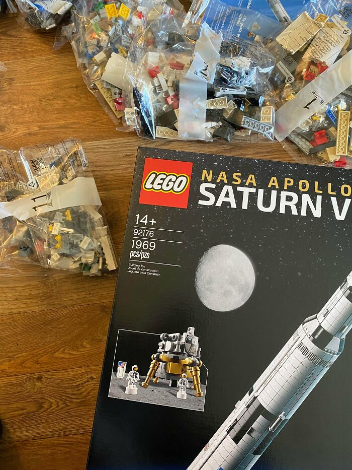 The Saturn V LEGO Set Has 1969 Pieces, Which Coincidentally Is The Year Humans Set Foot On The Moon