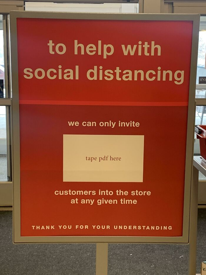 Put The Store Capacity Sign Up Boss!