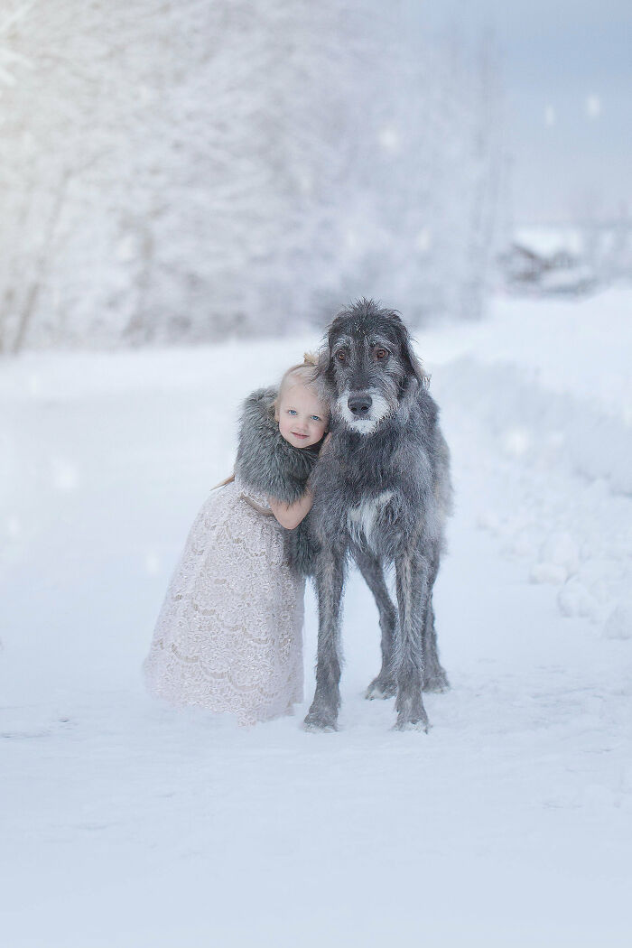 Took My Dog And Daughter Out For The First Time Together, In A Winter Wonderland