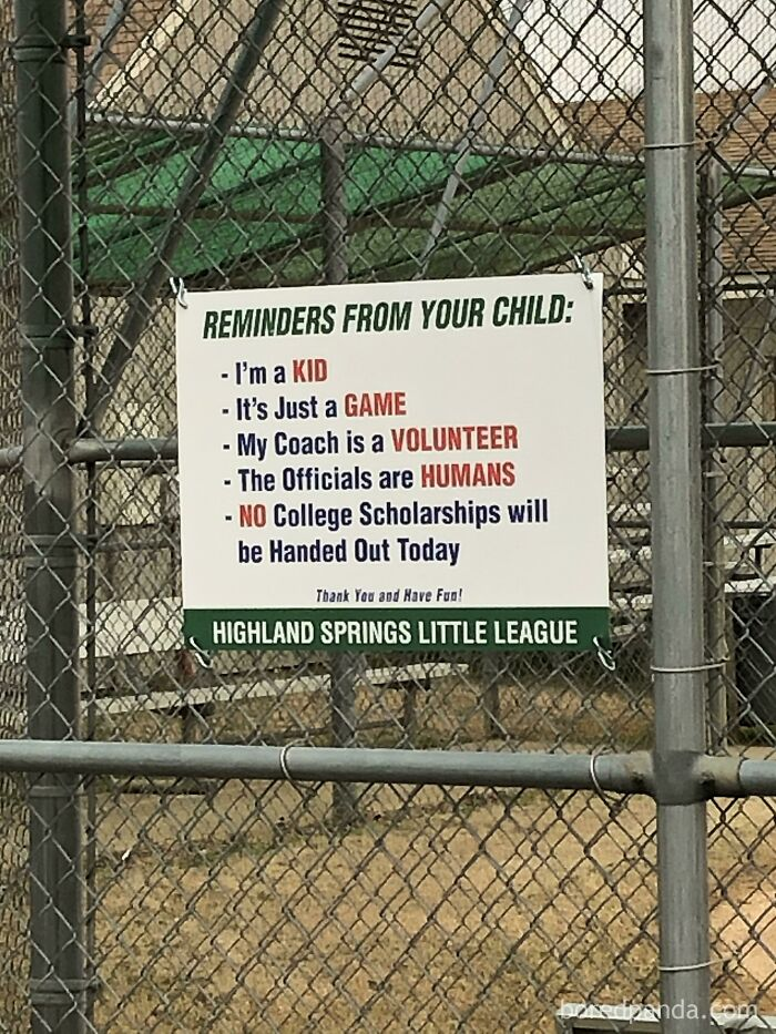 The Youth Baseball Team Had To Put These Signs Up Because Of The Amount Of Karens Acting Like Karens