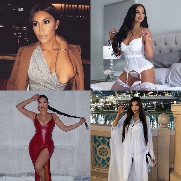 These Are 4 Different Women & None Of Them Are Kim Kardashian Or Kardashian Related. #thekardashianeffect