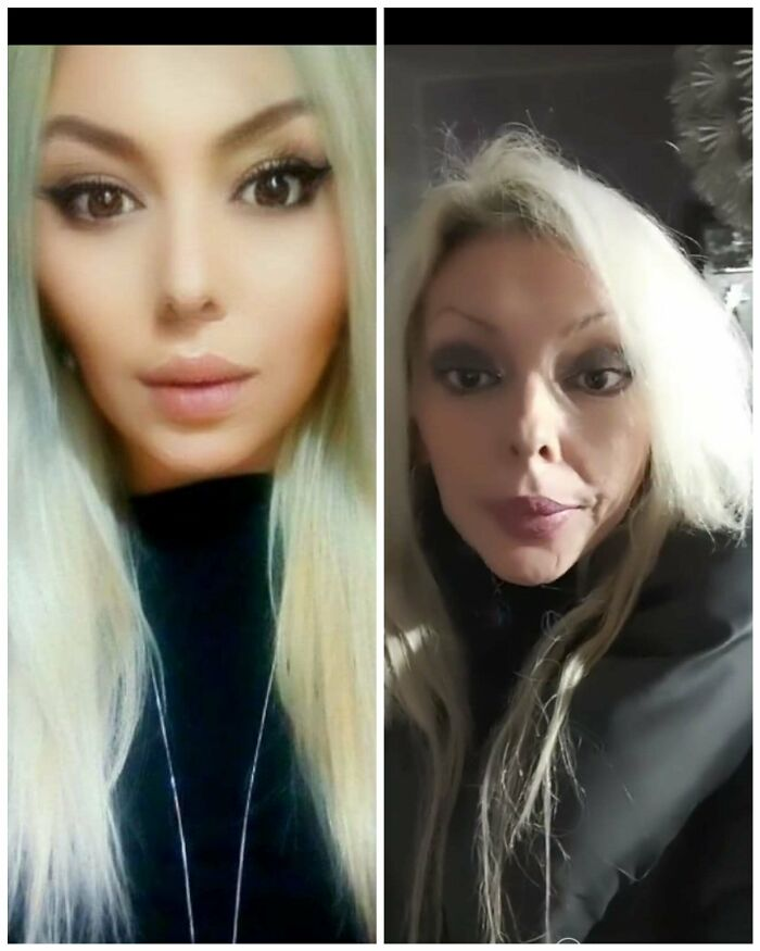 """Left One Was Tagged """" Naturalbeauty""""And The Right One Is From A Video Like A Few Days Before And Even That With Heavy Make-Up On"""