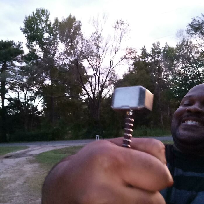 """My """"Full Sized"""" Mjolnir Arrived. I'm Still Happy And I Refused To Let My Moment Be Ruined"""