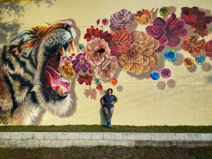 This Is The Largest Mural I've Ever Painted. Me For Scale