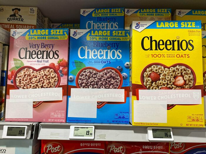 American Breakfast Cereals Imported And Sold In Asia Have Their Unsubstantiated Health Claims Blanked Out