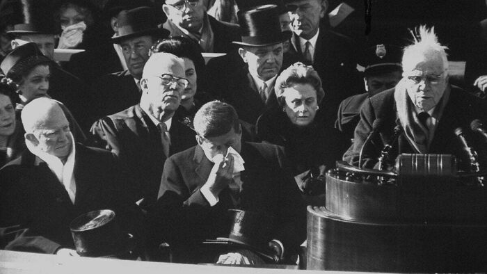 Til Robert Frost Couldn't Read The Poem He Wrote For John F. Kennedy's Inauguration Due To The Glare On The Snow Being Too Strong. So He Instead Recited One He Knew From Memory