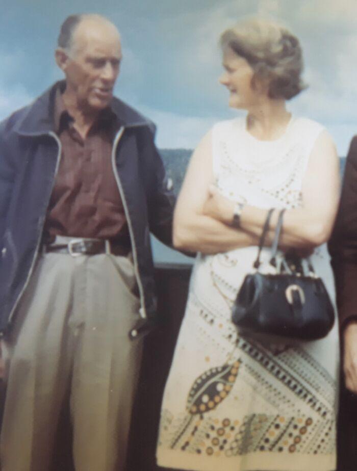 My Beloved Grandparents In Sweden Around 1975