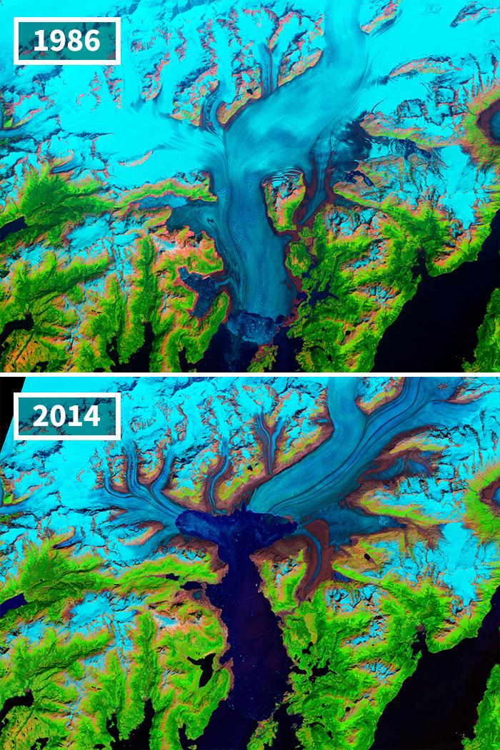 Derretimiento Del Glaciar Columbia, Alaska