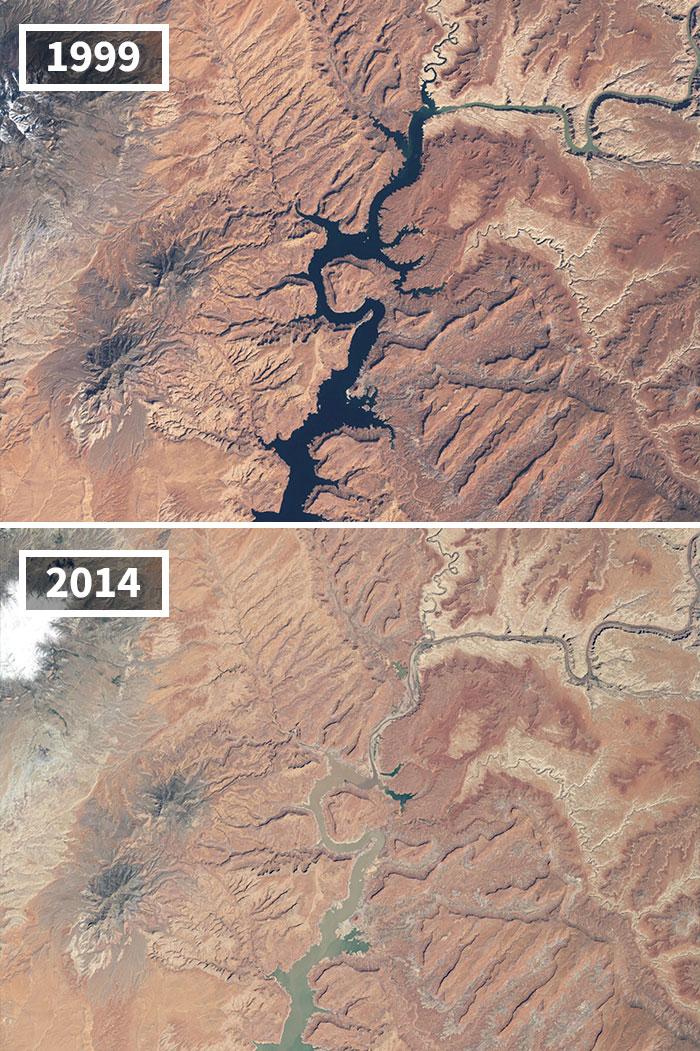 Sequía En El Lago Powell, Arizona Y Utah
