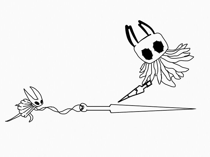 Not Mine, Thought My Friend Pierce Should Deserve Some Publicity. Hollow Knight Drawing