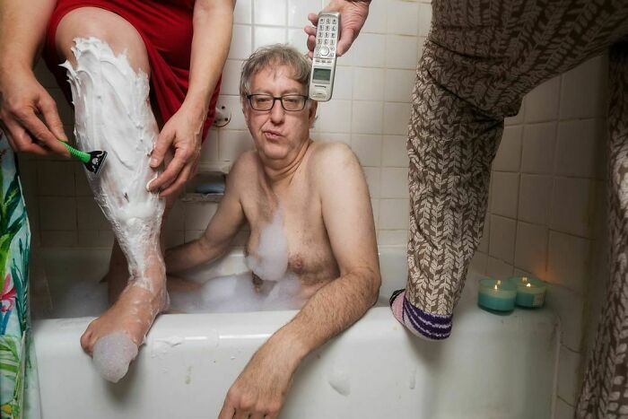April 7, Quarantine In Queens, Day 26.a Facebook Friend Recommended A Gentle Bubble Bath As A Great Way To Relieve Stress During A Lockdown In My One Bathroom Apartment In Queens. Not Sure The Plan Worked