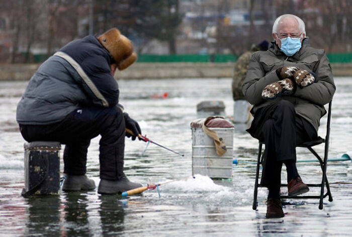 Bernie Ice Fishing. (I've Made A Ton Of These Memes)