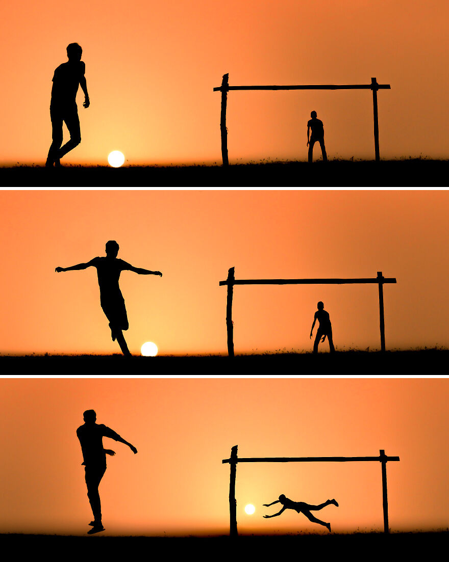 Football With Sunset