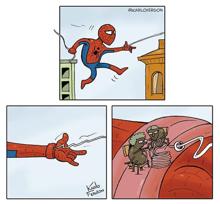 Artist Shows The Not-So-Glamorous Daily Life Of Superheroes (50 Comics)