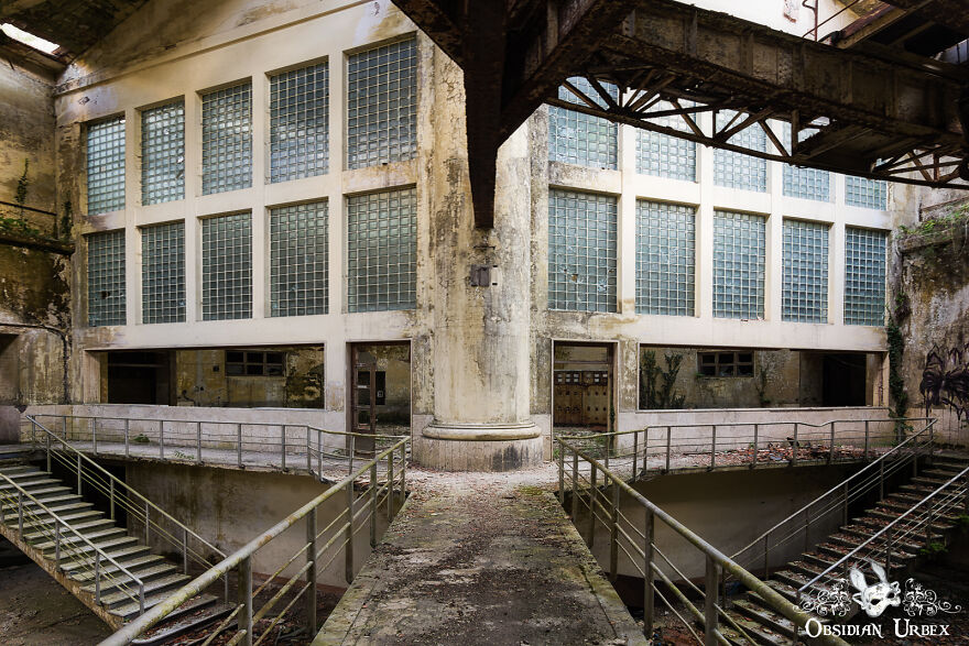 This Walkway Leads To The Control Room Of An Abandoned Power Plant