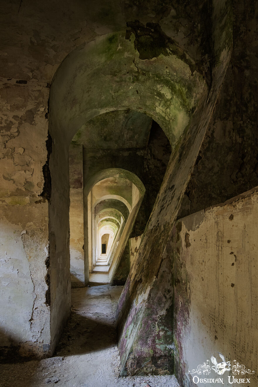 Interesting Corridor In Abandoned Hydro Power Plant