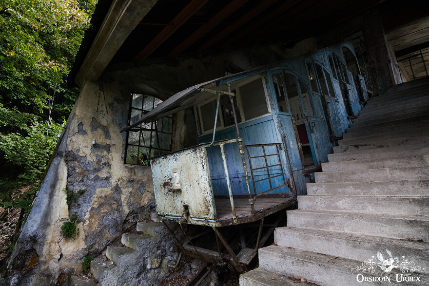 This Beautiful Blue Funicular Tramway Has Been Abandoned Since The Late 1970's