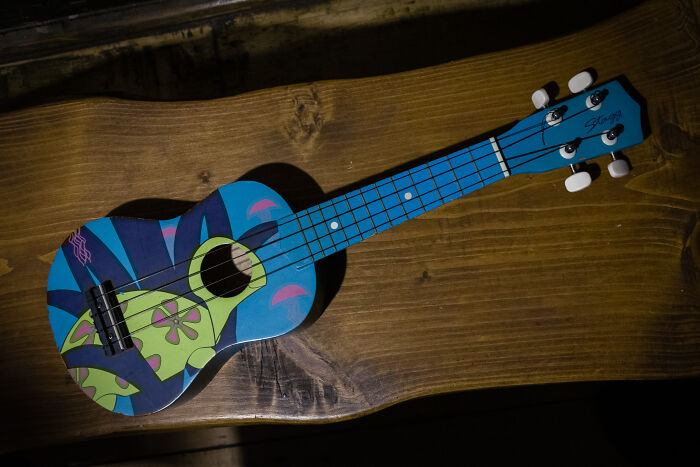 My Ukulele. Never Considered Buying One But I Found It For 5,5$ In Thrift Shop And Love It Now