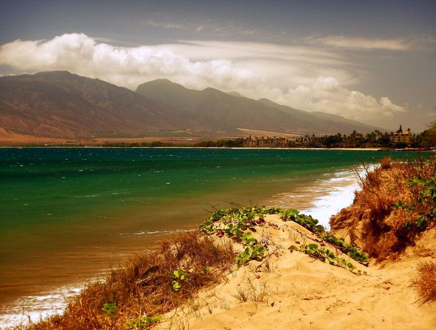Sugar Beach, Maui. Shooting Through Sunglasses For That Retro Fifties Look
