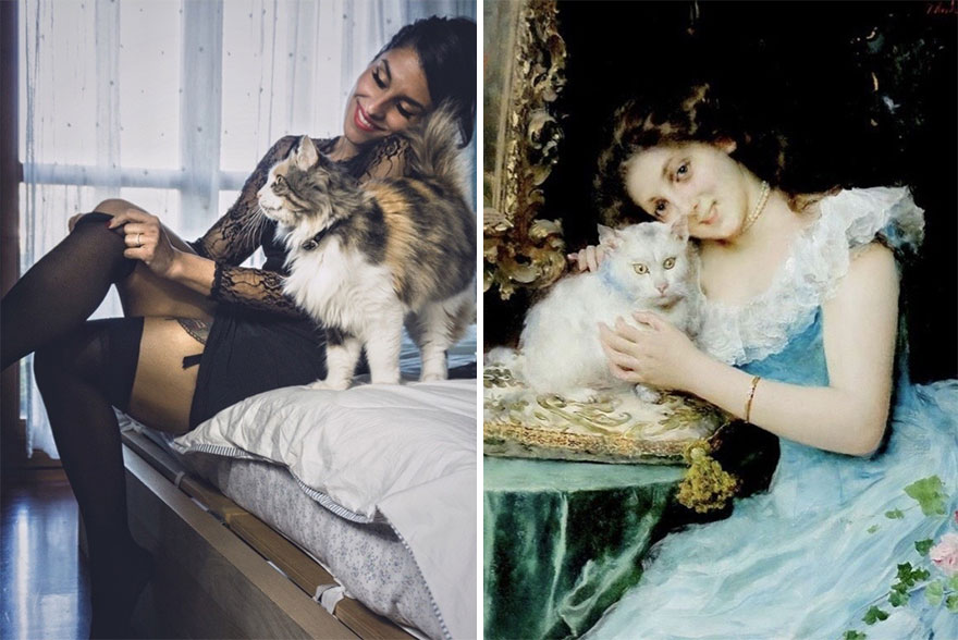 Lisa & Morgana. Painting By Federico Andreotti