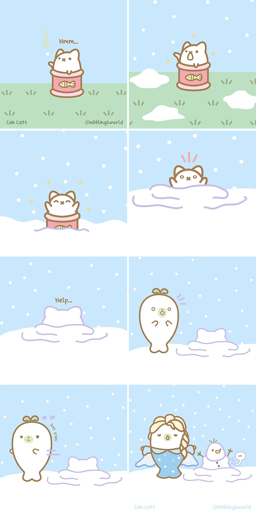 Can Cat's Snowy Day⁠