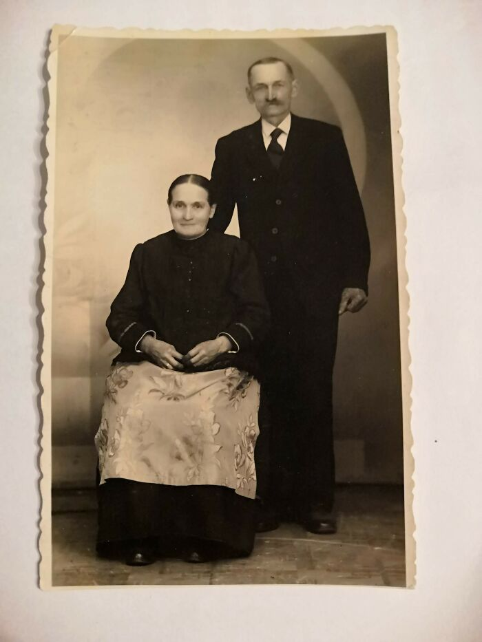 Ca. 1912 - The Parents Of My Grandmother. Farmers In Silesia