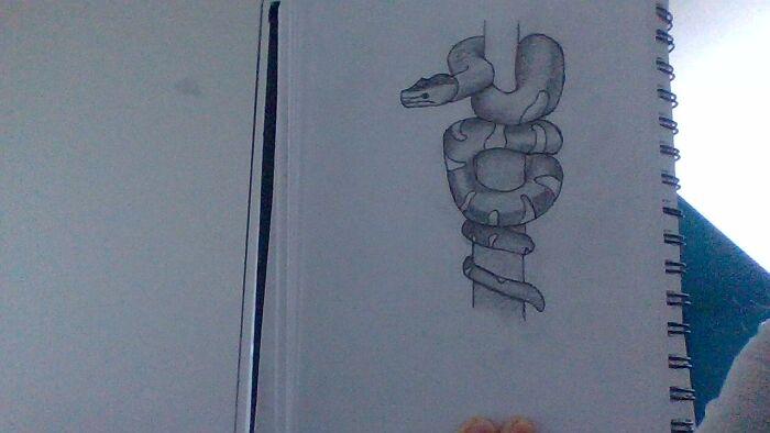 A Snake I Drew A While Ago