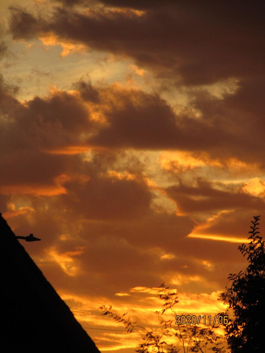 Golden Skies At Noon