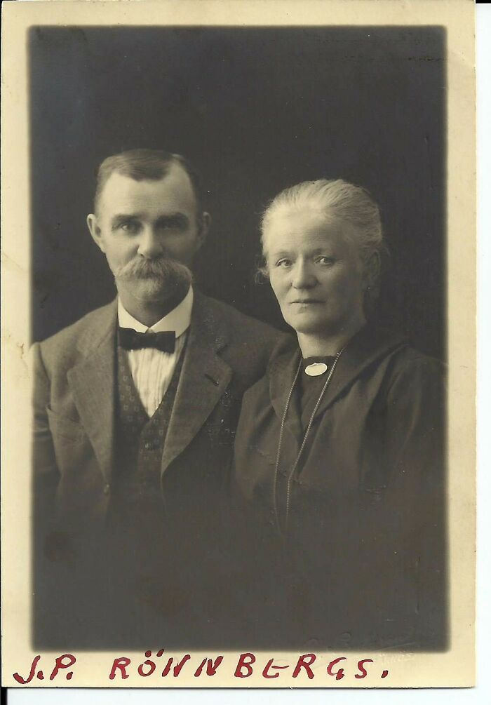 My Great Grandparents, J.p. (Jonas Petter) And Anna Ronnberg, In Sweden. Their Daughter, My Grandma Annie, Emigrated To America In 1915.