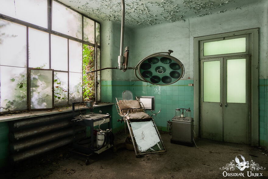 A Turquoise-Tiled Clinic Inside A Derelict Asylum. This Was A Part Of The Maternity And Gynaecology Area